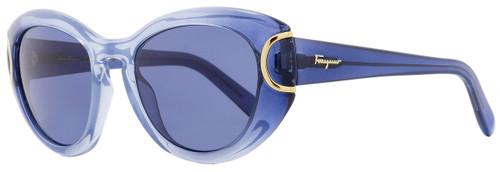 Salvatore Ferragamo Oval Sunglasses SF818S 450 Avio Blue Gradient 818