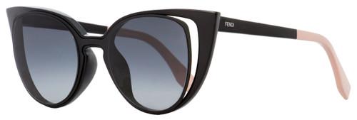Fendi Cateye Sunglasses FF0136S NY1HD Black/Pink 136