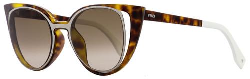 Fendi Cateye Sunglasses FF0136S NY2J6 Havana/Ruthenium/White 136