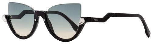 Fendi Oval Sunglasses FF0138S 29AIE Black 52mm 138