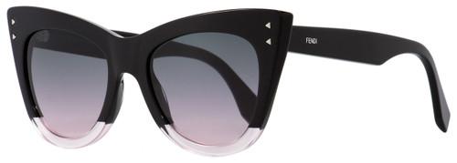 Fendi Cateye Sunglasses FF0238S 3H2JP Black/Transparent Pink 52mm 238
