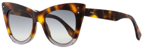 Fendi Cateye Sunglasses FF0238S AB89O Havana/Transparent Gray 52mm 238