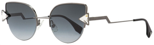 Fendi Cateye Sunglasses FF0242S KJ19O Dark Ruthenium/Black 52mm 242