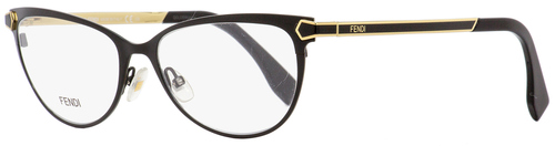Fendi Oval Eyeglasses FF0024 7WH Black/Gold 53mm 024