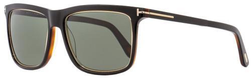 Tom Ford Rectangular Sunglasses TF392 Karlie 01R Black/Gold/Havana Polarized 57mm FT0392