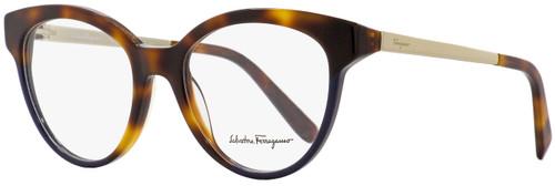 Salvatore Ferragamo Round Eyeglasses SF2784 259 Havana/Blue 53mm 2784