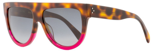 Celine Square Sunglasses CL41026S 23AHD Havana/Fuchsia 58mm 41026