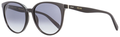 Celine Oval Sunglasses CL41068S 807W2 Shiny Black 55mm 41068