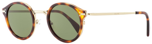 Celine Round Sunglasses CL41082S 3UA1E Gold/Havana 46mm 41082