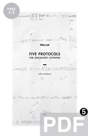 Ultra-Red Workbook 02: Five Protocols For Organized Listening [PDF-5]