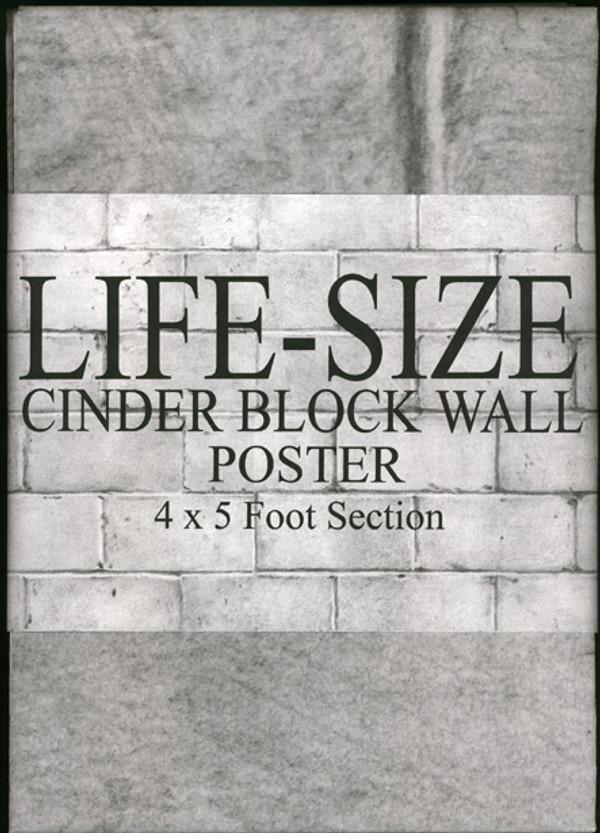 Cinder Block Wall Poster