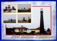 Port Bolivar Lighthouse w/Ferry Postcard