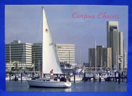 Corpus Christi Sailboat -Postcard