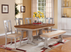 Grey and Natural Dining Table w/ Butterfly Leaf