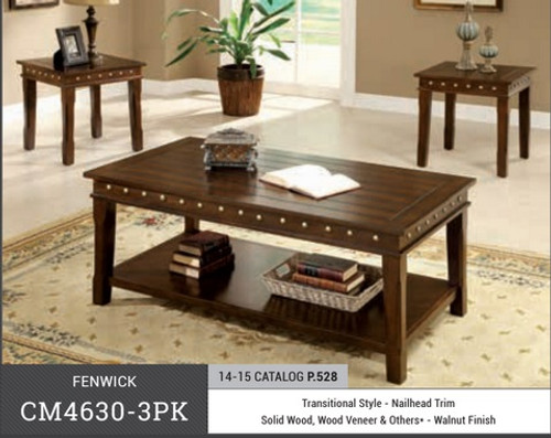 Fenwick Wooden Coffee Table 3 PC Set