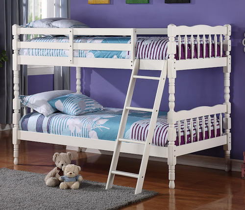 Wooden White Bunk Bed
