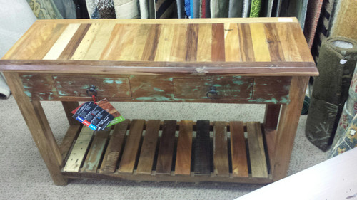 Reclaimed Wood Console Table 950364
