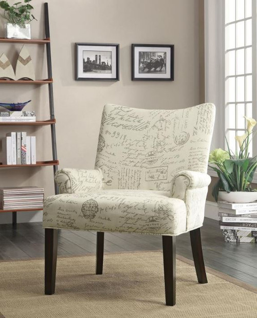 Accent Chair in French Script