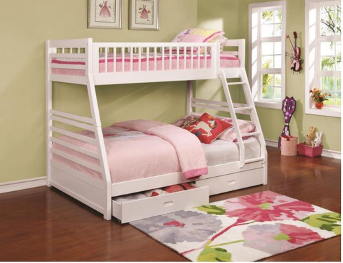 Ashton Bunk Bed Twin/Full (White)