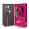 iWorld Turbo Earbuds with Mic Hot Pink