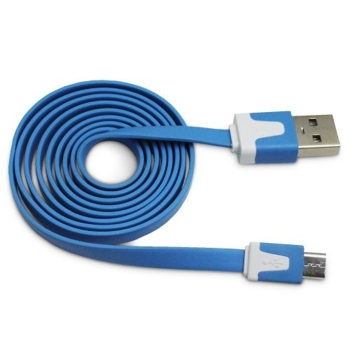 flat lightning cable 3 ft blue