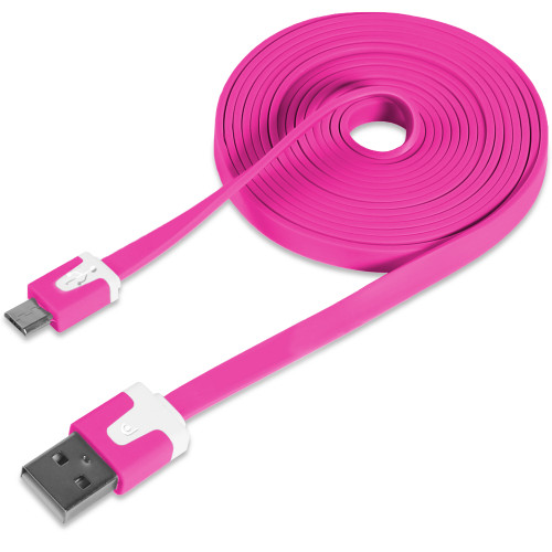 flat lightning cable 3 ft pink