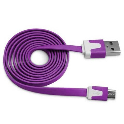 flat lightning cable 3 ft purple