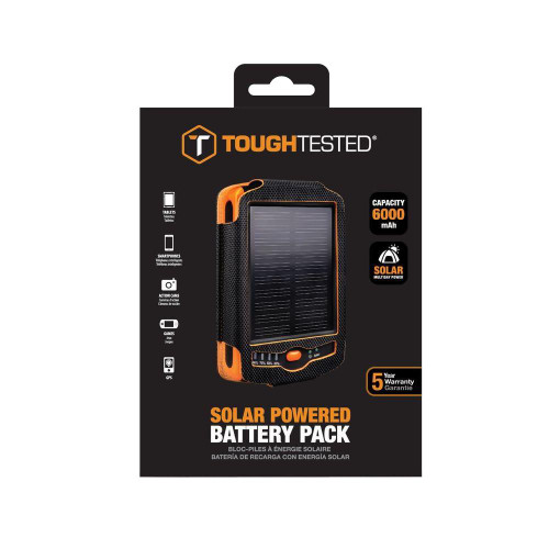 tough tested solar powered battery pack