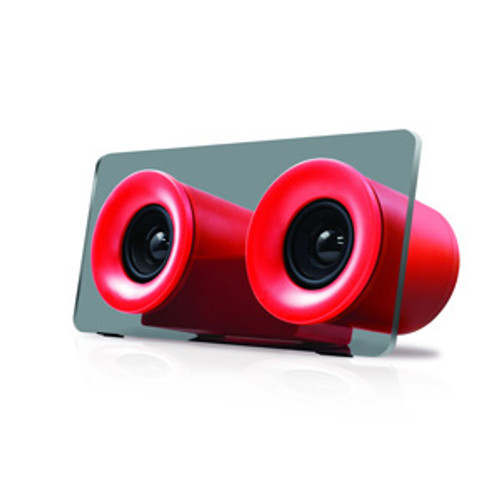 iWorld HyperBluetooth Audio System Red