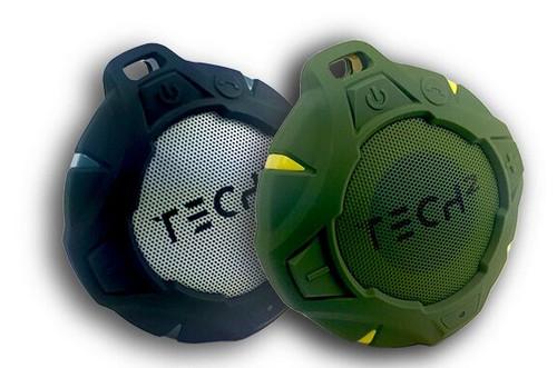 TECH 2 Aqua Waterproof Bluetooth Speaker-Black
