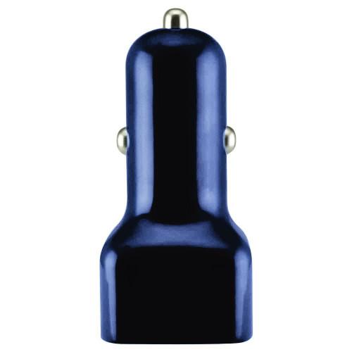 Mini dual usb 2.1 amp car charger adapter black