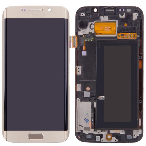 Samsung Galaxy S6 Edge G925i Lcd W/Digitizer Gold