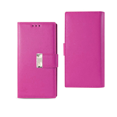 Vogue wallet for samsung galaxy j7 prime hot pink