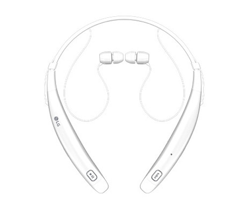 LG HBS-770 AGSAWH LG TONEPRO BLUETOOTH WIRELESS STEREO HEADSET WHITE