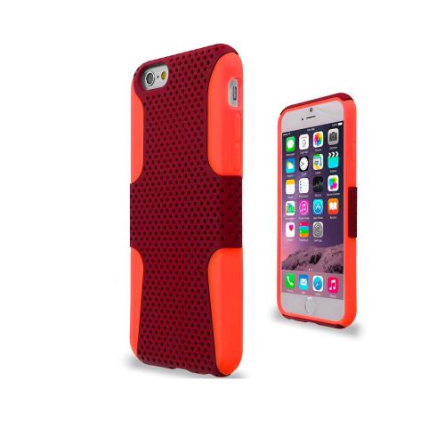 mesh hybrid case for iphone 5 red-orange