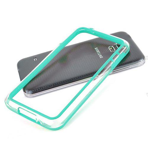 silhouette tpu bumper for iphone  5 aqua-clear