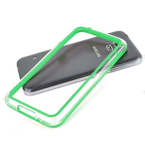 silhouette tpu bumper for iphone  5 green-clear