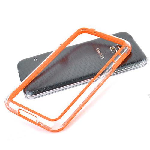 silhouette tpu bumper for iphone  5 orange-clear