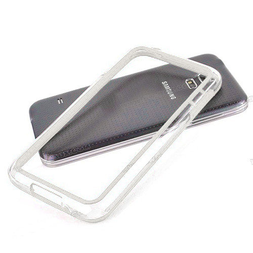 silhouette tpu bumper for iphone 5 white-clear
