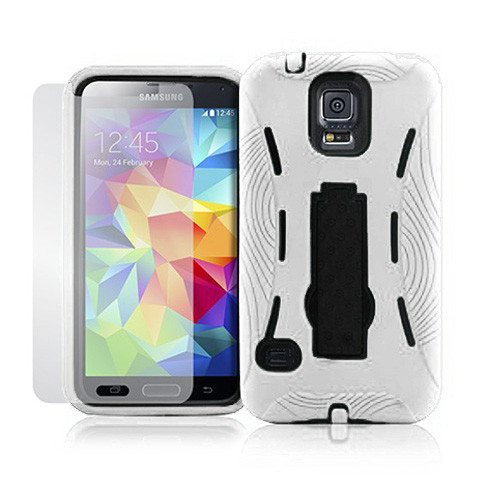 armor guard case with kickstand for iphone 6 white-black