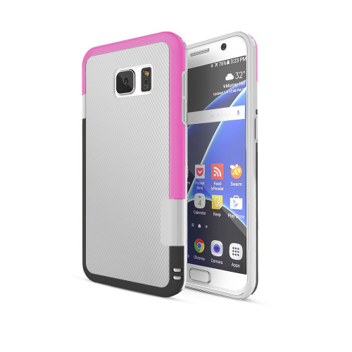 stylish tpu case for iphone 6 white-hot pink-black