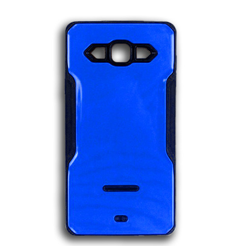 rigid tpu case with plate for iphone 7/8 blue-black