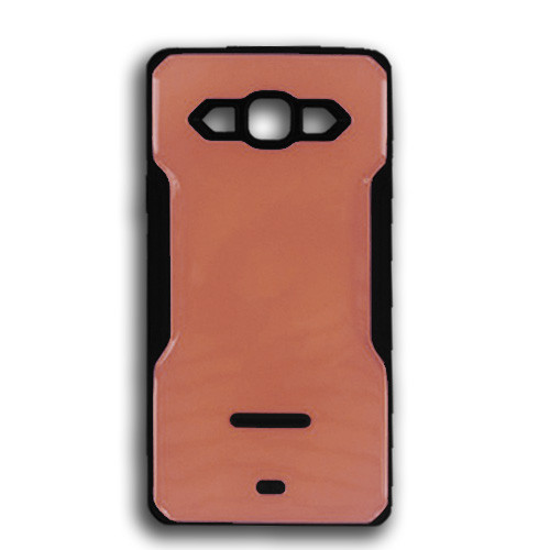 rigid tpu case with plate for iphone 7/8 bronze-black