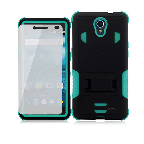 warrior guard case with kickstand for iphone 7/8 plus aqua-black