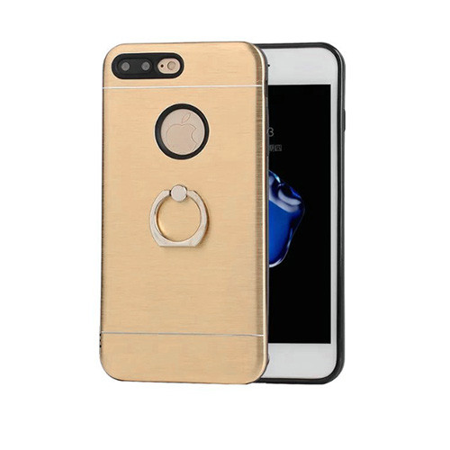 glamour hybrid ring case with kickstand for iphone 7/8 plus gold-black