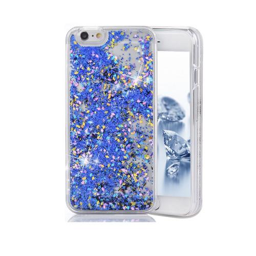 Liquid Glitter TPU Case for iPhone  7 Plus Blue