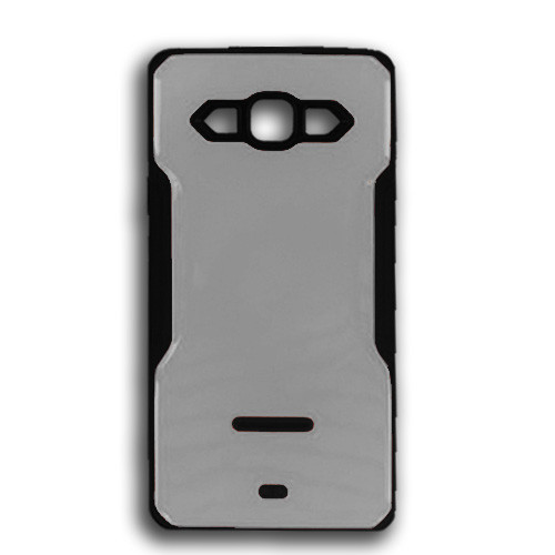 rigid tpu case with plate for iphone 7/8 plus silver-black