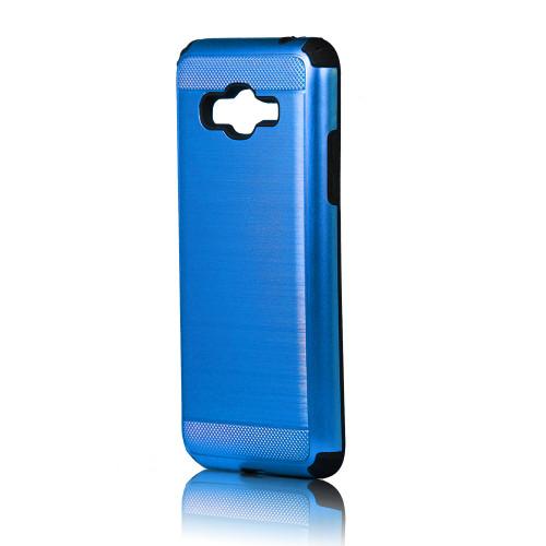 hard pod hybrid case for samsung galaxy j1 mini blue-black