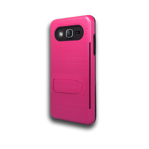ID Ultrathin Hybrid Case with Kickstand for Samsung Galaxy J5 Hot Pink