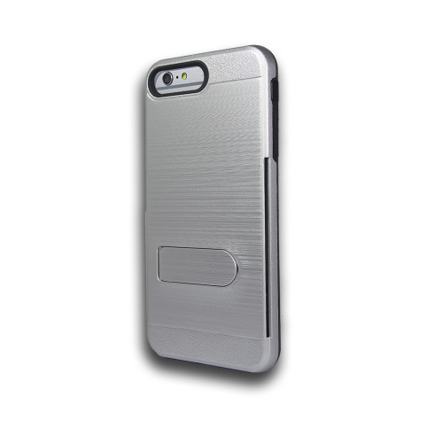 ID Ultrathin Hybrid Case with Kickstand for Samsung Galaxy J5 Silver